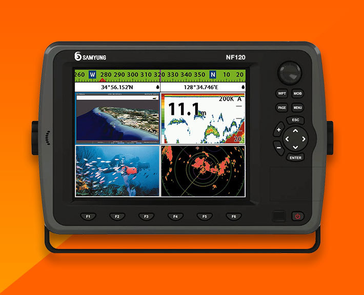 "3d gps plotter+fish finder(12"") - samyung n120/nf120 -, Fish Finder"