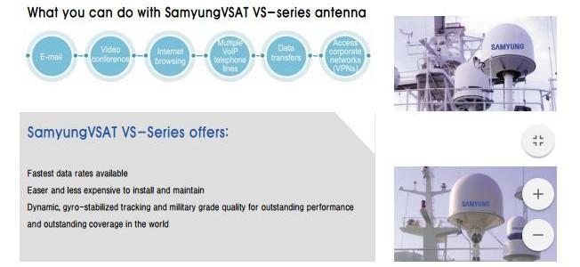 ANTENNA VSAT – SAMYUNG VS61/85/100/120