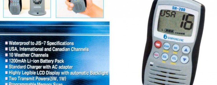 MARINE VHF PORTABLE RADIO (Walkie-Talkie) – SAMYUNG SH-200