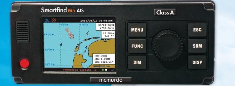 AIS Class A transponder – MC MURDO SMARTFIND M5